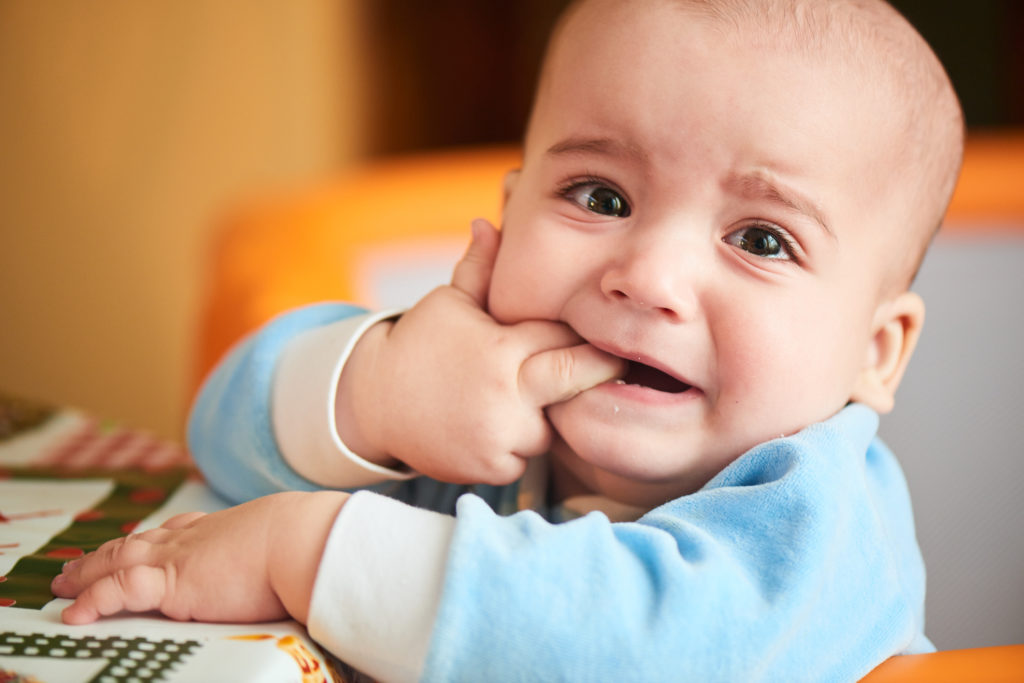 toddler crying from teething