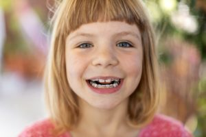 Young girl with Phase 1 orthodontics in New Britain